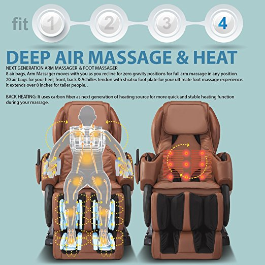 Full Body Shiatsu Zero Gravity RELAXONCHAIR MK-IV Massage Chair