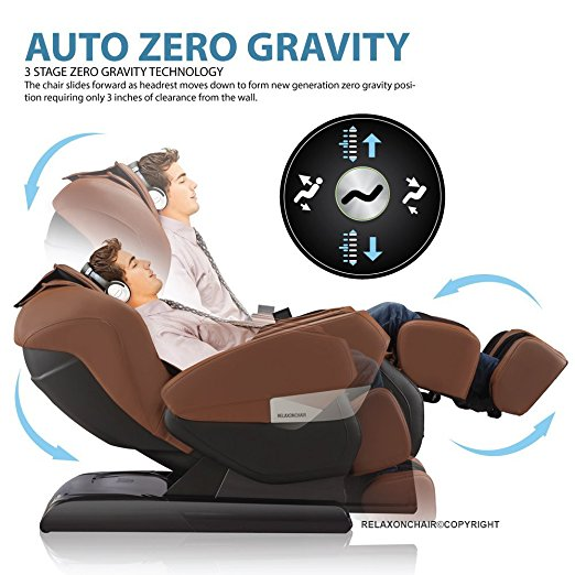 Full Body Zero Gravity Shiatsu RELAXONCHAIR MK-IV Massage Chair For Sale