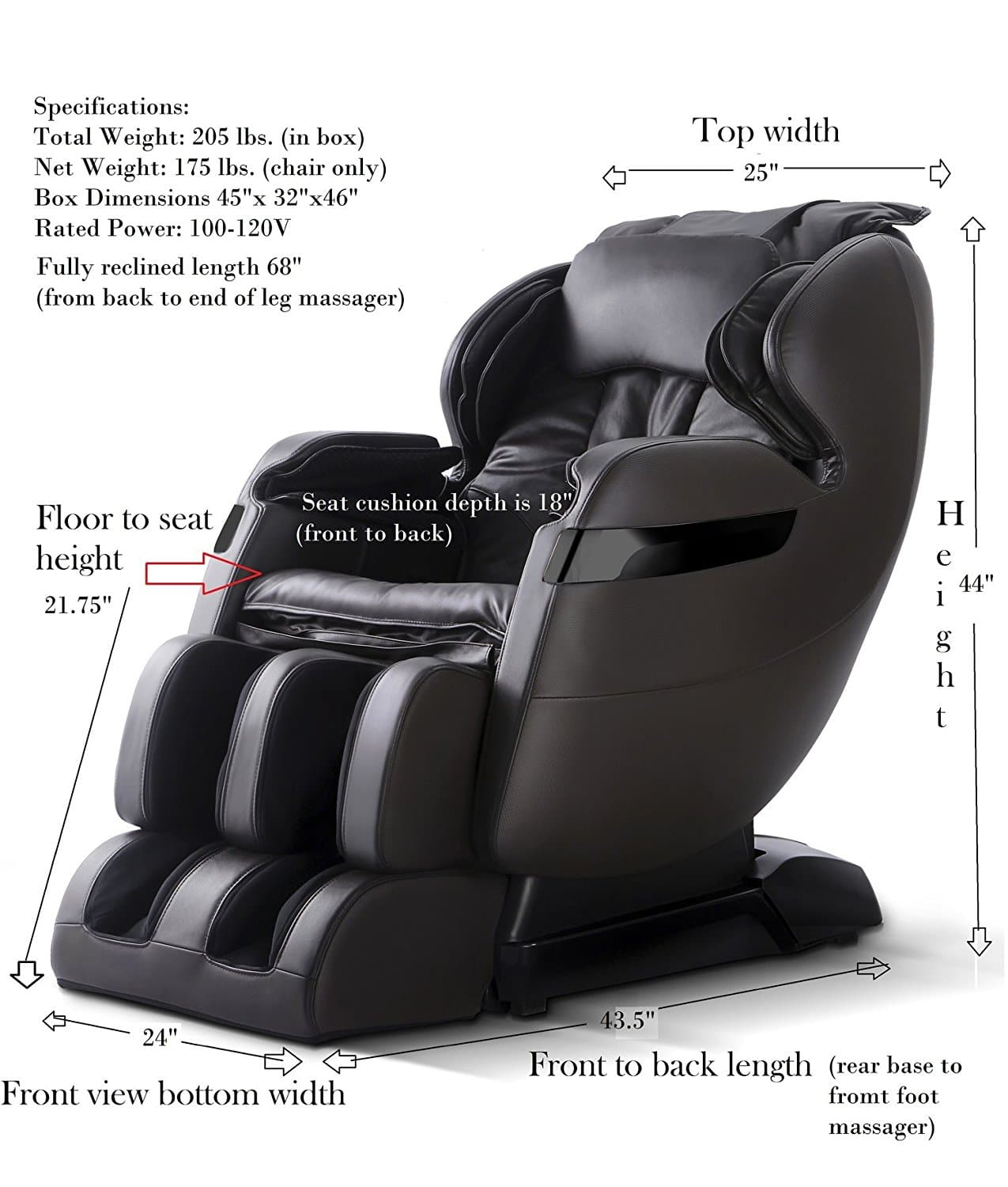 Space Saving Forever Rest FR-5Ks Massage Chair