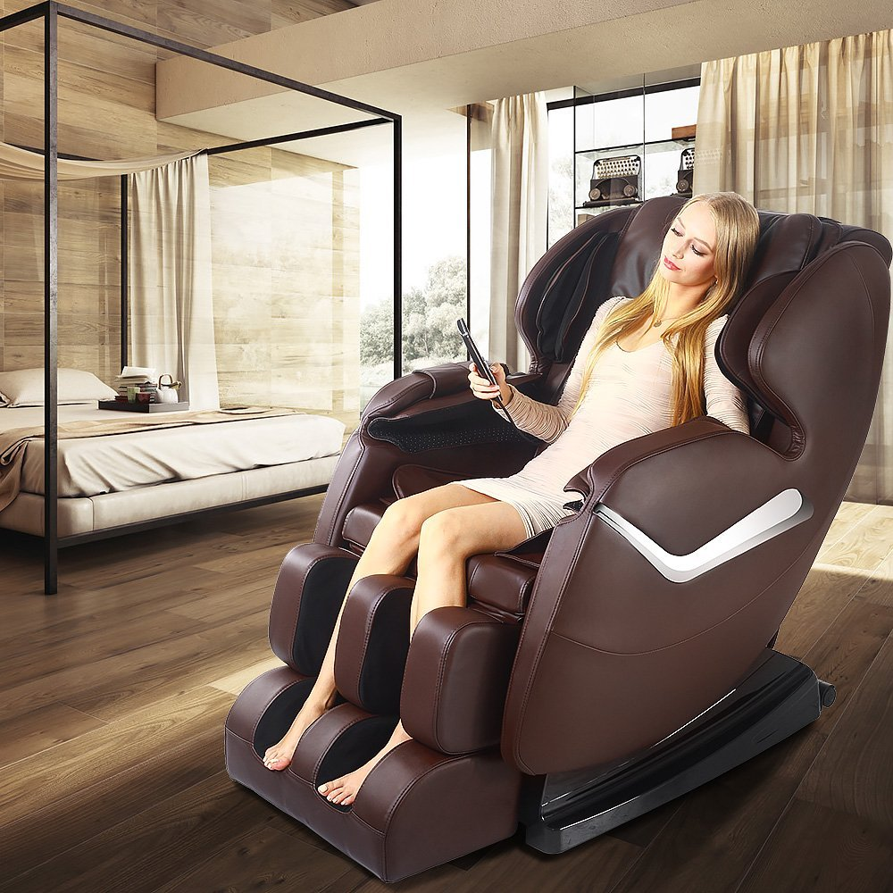 Real Relax Full Body Shiatsu Massage Chair Recliners For Sale