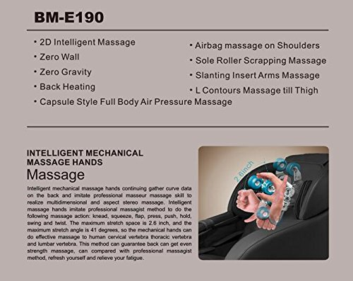 BestMassage Long Rail Zero Gravity Massage Chair